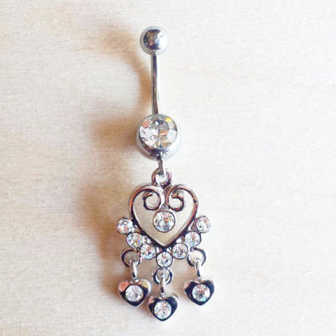 Heart Shaped Belly Ring - Free As A Bird Jewelry