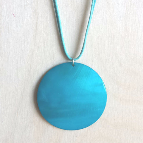 Blue Shell Necklace - Free As A Bird Jewelry