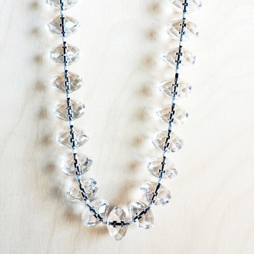 Sparkly Crystal Ball Necklace - Free As A Bird Jewelry
