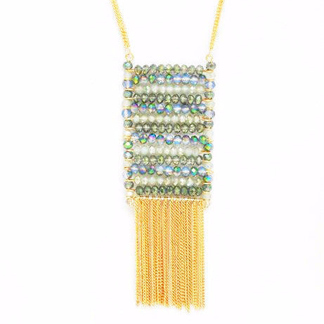 Gold Tassel Necklace - Free As A Bird Jewelry