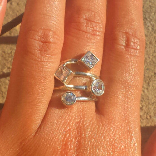 Cubic Zirconia Wrap Ring - Free As A Bird Jewelry