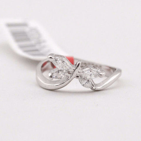 Cubic Zirconia Dragonfly Ring - Free As A Bird Jewelry