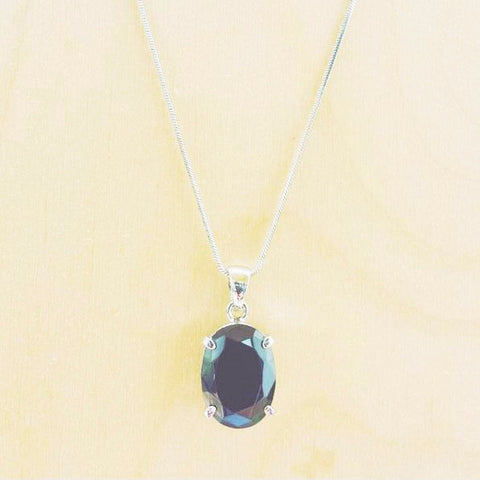 Gunmetal Pendant Necklace - Free As A Bird Jewelry