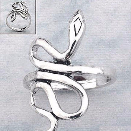 Sterling Silver Snake Ring - Free As A Bird Jewelry