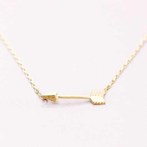 Tiny Arrow Necklace - Free As A Bird Jewelry