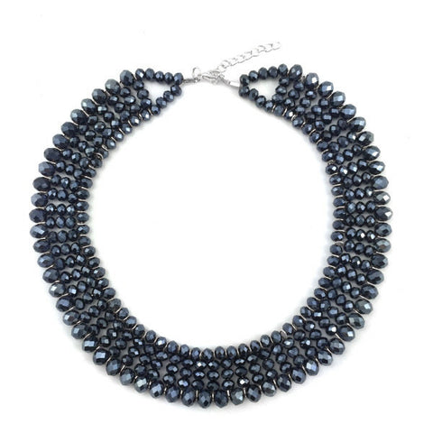 Black Statement Necklace - Free As A Bird Jewelry