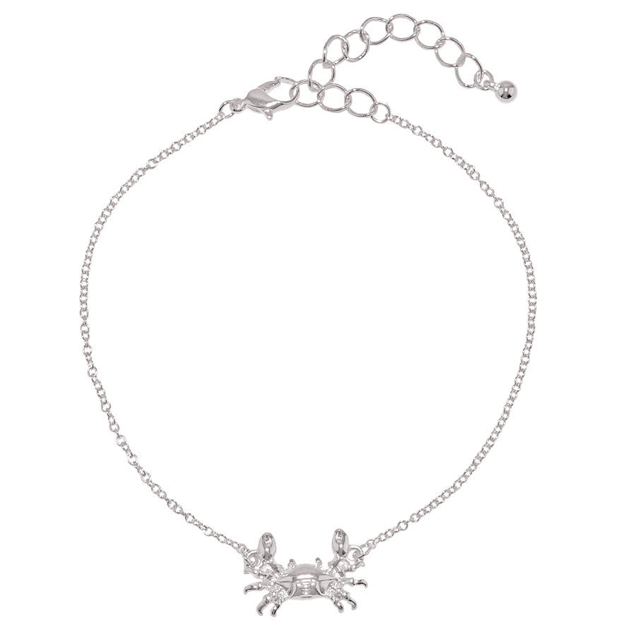 Silver Crab Anklet - Free As A Bird Jewelry