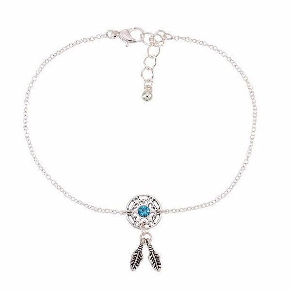 Crystal Dream Catcher Anklet - Free As A Bird Jewelry