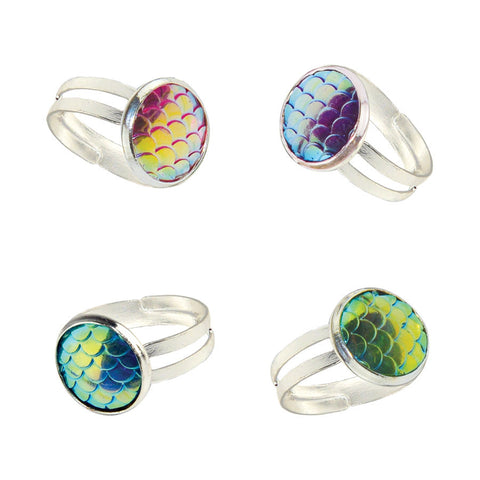 Mermaid Scales Ring (4 Colors) - Free As A Bird Jewelry