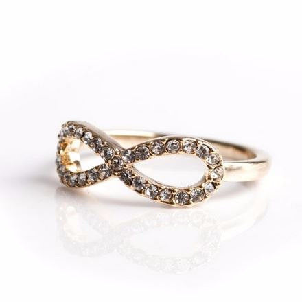 Infinity Ring -  Rhinestones - Free As A Bird Jewelry