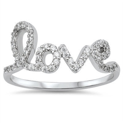 Silver Love Ring - Free As A Bird Jewelry