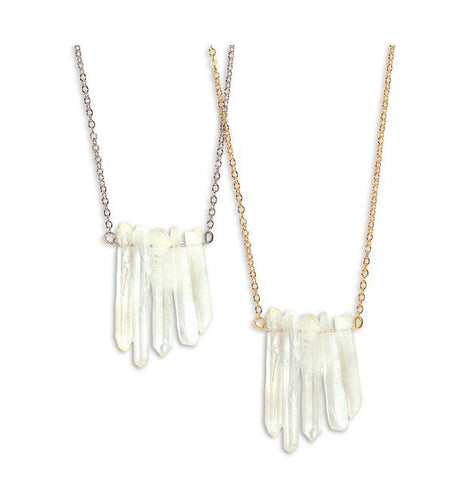 Crystal Bar Necklace - Free As A Bird Jewelry