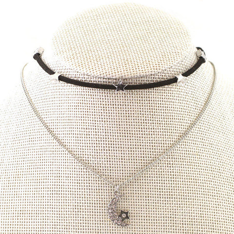 Moon and Star Choker