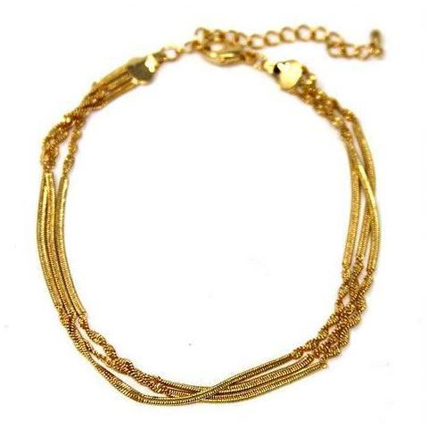 Multi Chain Twisted Anklet