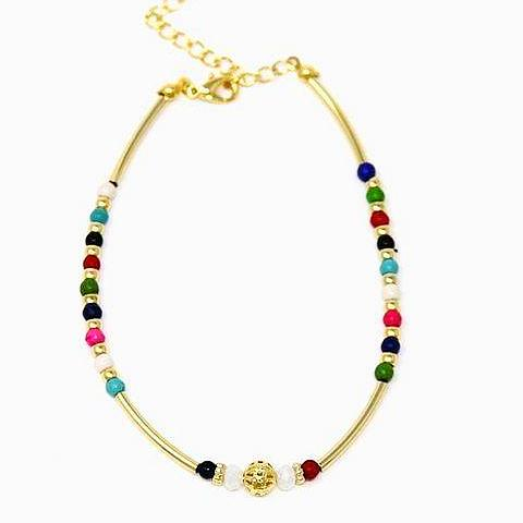 Multi-color Bead Anklet