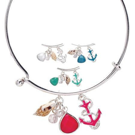Anchor Charm Bangle - Free As A Bird Jewelry