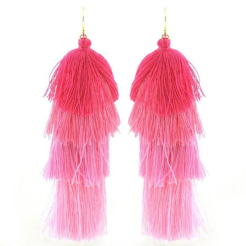 Pink Cascade Earrings - Free As A Bird Jewelry