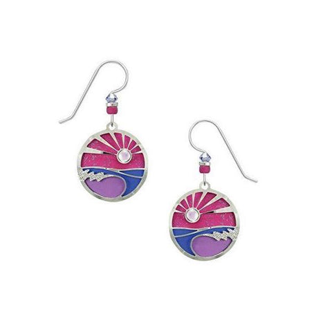 Pink Sunset Earrings - Free As A Bird Jewelry
