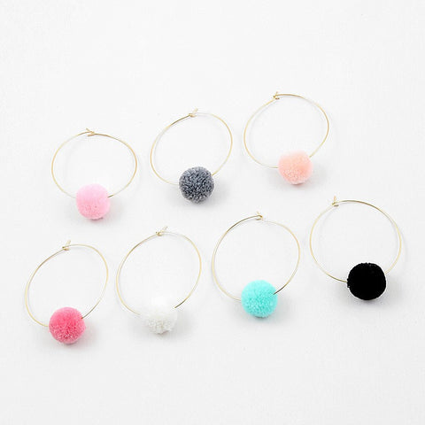 Pom Pom Earrings - Free As A Bird Jewelry