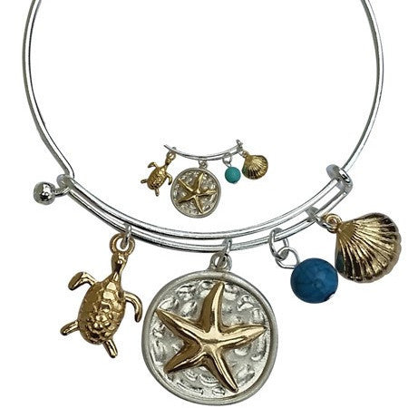 2 Toned Starfish Bangle