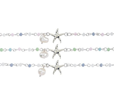 Starfish and Pearl Anklet - Free As A Bird Jewelry