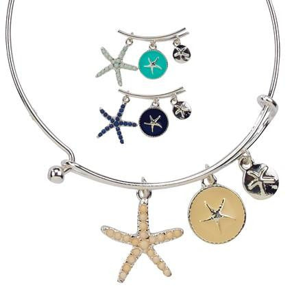 Starfish Bangle Bracelet