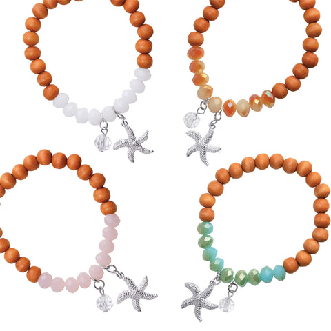 Starfish Charm Bracelet - Free As A Bird Jewelry