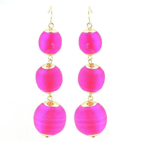 Beaded Ball Earrings - Free As A Bird Jewelry