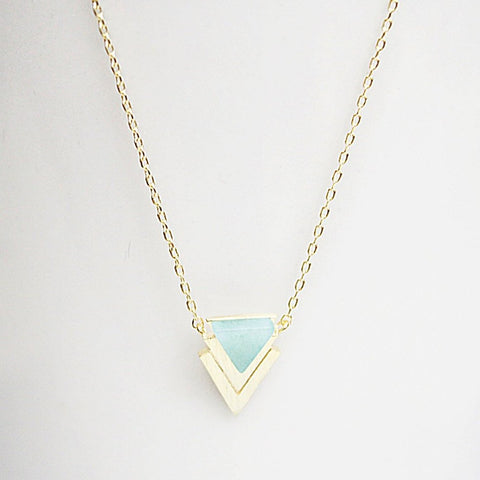 Mint Chevron Necklace
