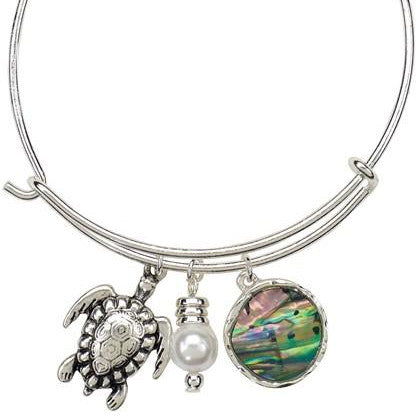 Turtle and Abalone Bangle