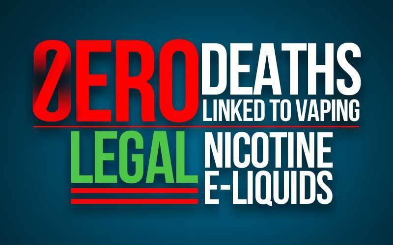Zero Deaths Linked too Vaping eLiquid