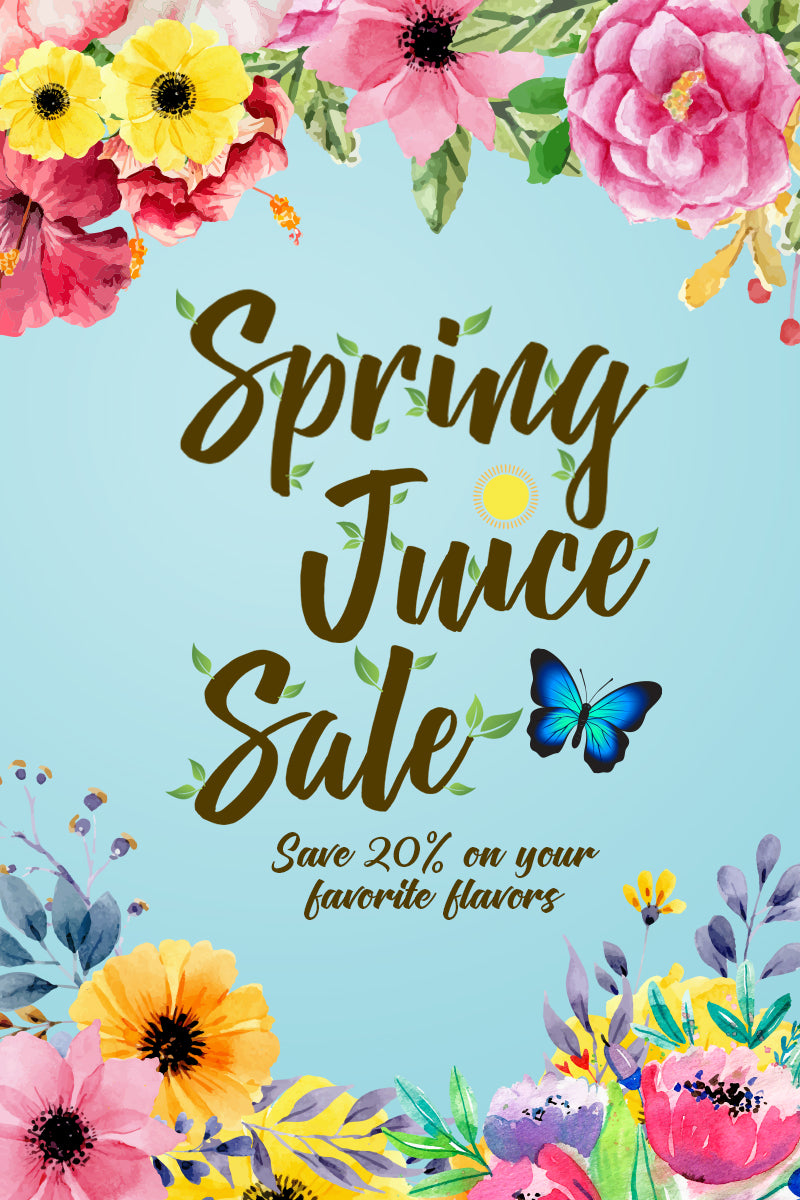 All Juices are 20% Off this Spring at Vapehappy®