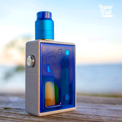 Pulse 22 Bottom Feeder RDA (Color Version) by Vandy Vape Color Options Blue with Arkon Mod