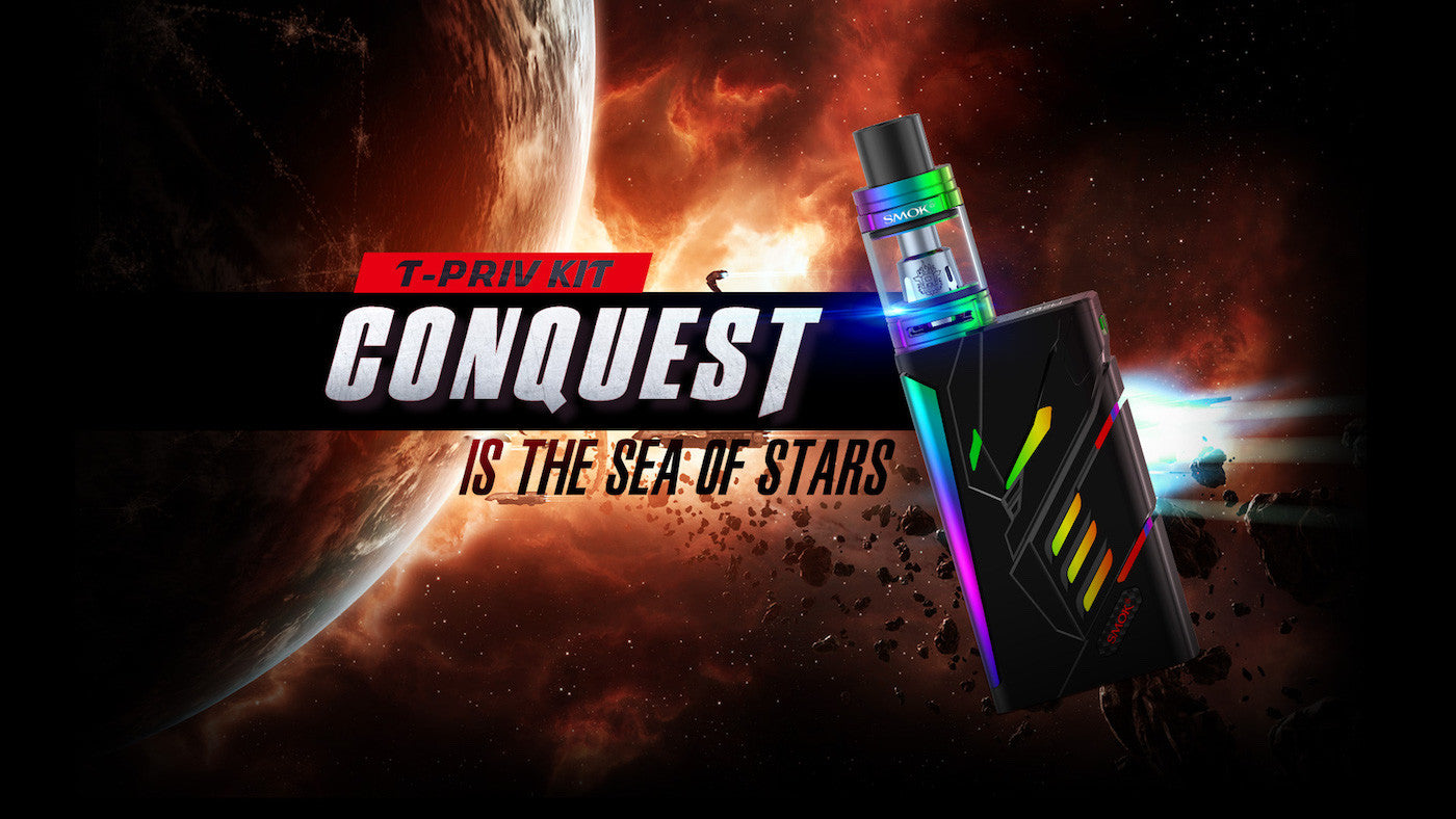 T-Priv 220W TC Starter Kit by SMOK Total Vape Conquest with TFV8 Baby Beast Tank