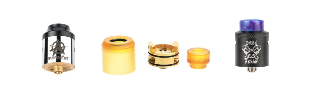 VAPEHAPPY Roundup The Top 3 RDAs DPRO RDA by COILART Riot RDA by Anarchist Dead Rabbit RDA by Hellvape