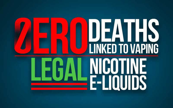 zero deaths linked to vaping nicotine elqiuid