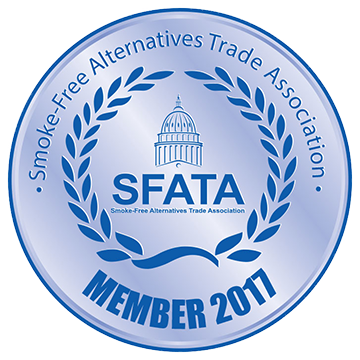 SFATA - Smoke-Free Alternatives Trade Association badge