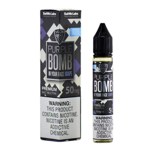 VGOD and SaltNic eJuice - ICED Purple Bomb