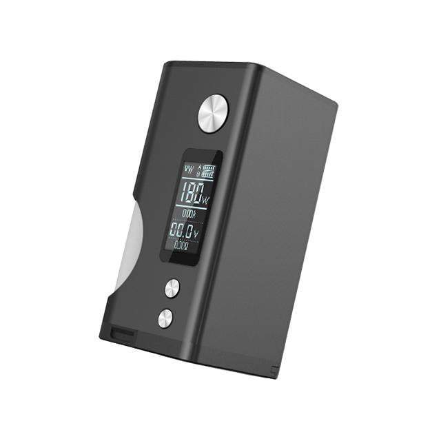 "Basium 180W Squonk Mod by Vaping Biker & Dovpo Black 0.96"" OLED Screen View"