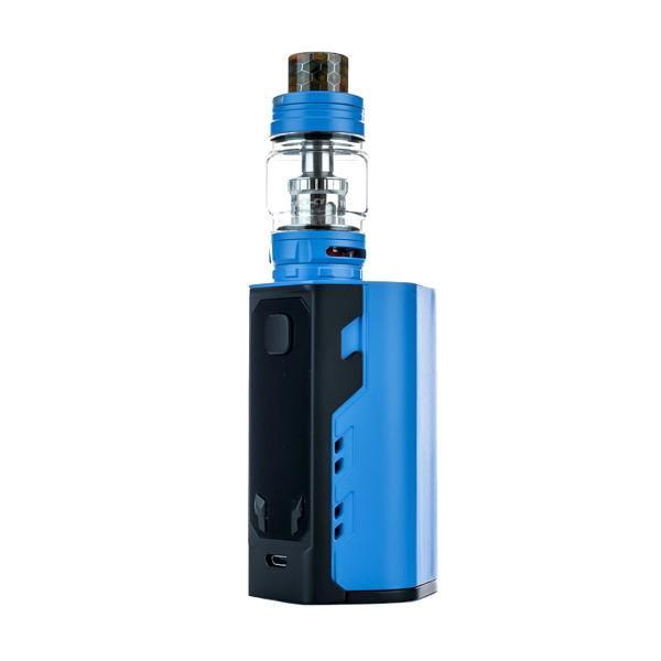 Captain X3 Triple 20700 Starter Kit by iJoy Blue Side View