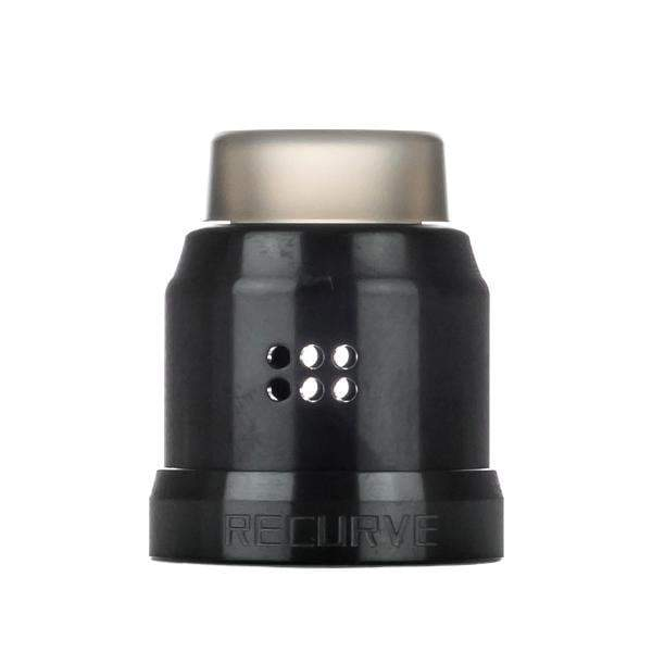 Recurve RDA 22MM Conversion Cap by Wotofo Black
