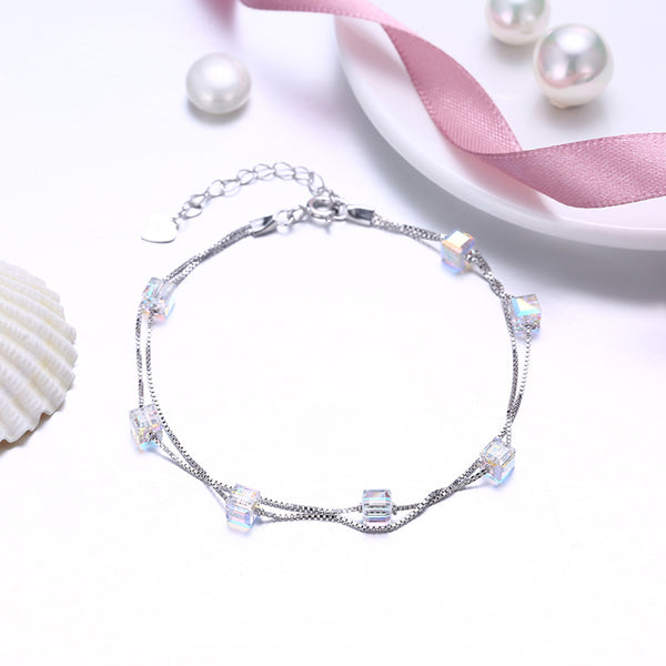 Unicorn AB Crystal Bracelet - 925 Sterling Silver