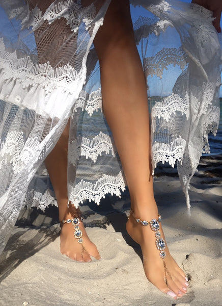 French Riviera Barefoot Sandals - Gold