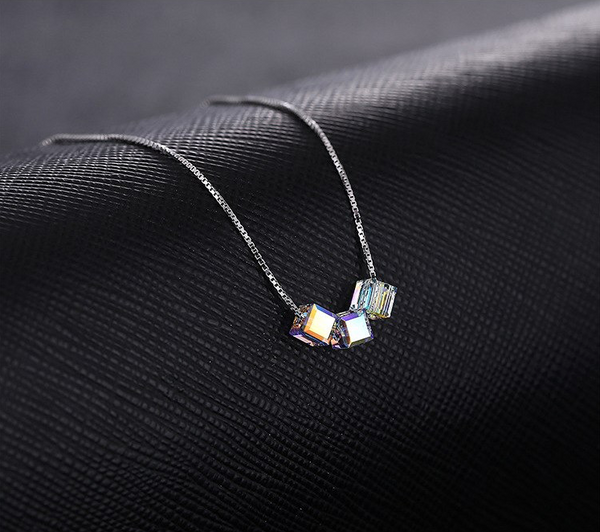Unicorn AB Crystal Necklace - 925 Sterling Silver