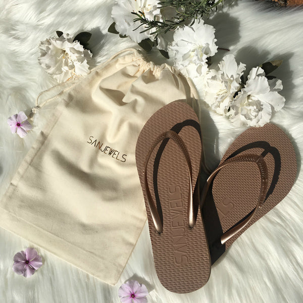 Wedding flip-flops for Reception/Guests *GOLD*
