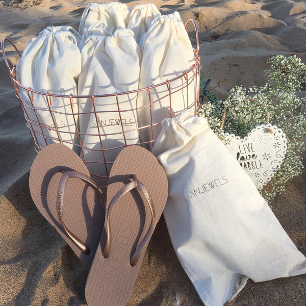 Bulk Buy Flip-Flops for Guests - GOLD