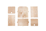 Wooden six pack carrier, unassembled
