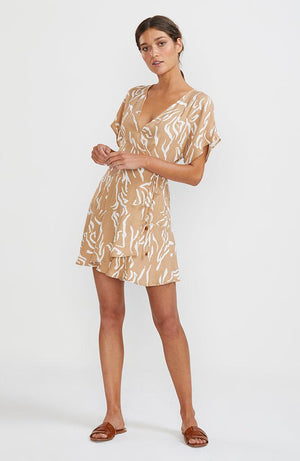 Panama Wrap Mini Dress