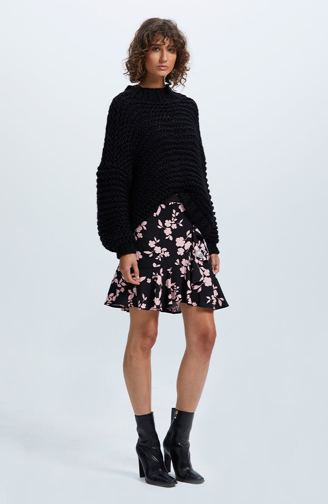 Tempo Chunky Jumper - Black
