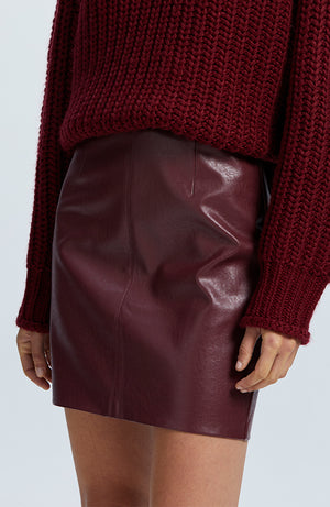 Veronica Pu Mini Skirt